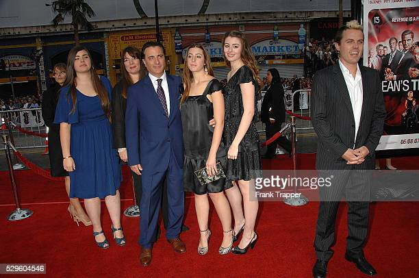 Actor Andy Garcia with family and actor Casey Affleck arrive at the premiere of 'Oceans 13' held at Grauman's Chinese Theater in Hollywood