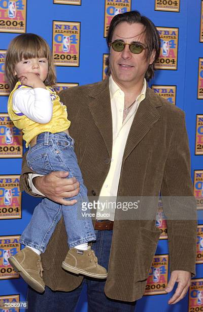 Actor Andy Garcia with his son Andres attend the 2004 NBA AllStar Game held on February 15 2004 at the Staples Center in Los Angeles California