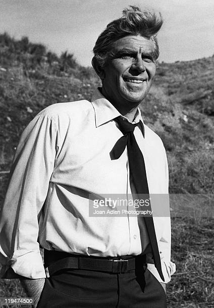 Actor Andy Griffith on the set of TV's 'Salvage-1' where he plays the character, Harry Broderick, a salvage expert extraordinaire, filmed in Los...