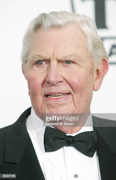 Actor Andy Griffith poses backstage at the 2nd Annual TV Land Awards held on March 7 2004 at The Hollywood Palladium in Hollywood California