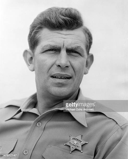 Actor Andy Griffith poses for a portrait as Sheriff Andy Taylor circa 1965 in los Angeles California