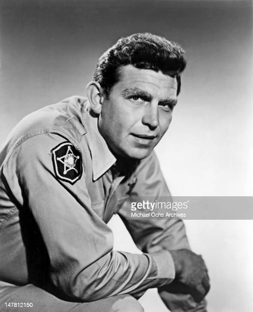 Actor Andy Griffith poses for a portrait as Sheriff Andy Taylor circa 1963 in los Angeles California