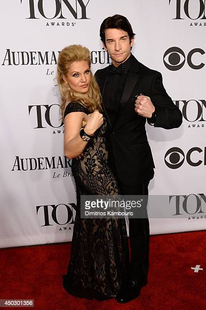 Actor Andy Karl and Actress singer Orfeh attend the 68th Annual Tony Awards at Radio City Music Hall on June 8 2014 in New York City