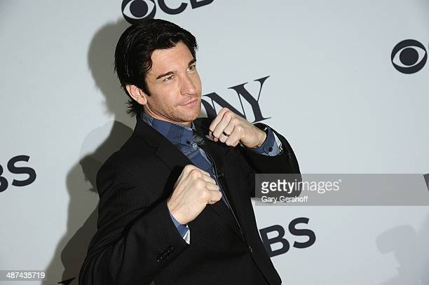Actor Andy Karl nominee for Best Performance by an Actor in a Leading Role in a Musical for 'Rocky' attends the 2014 Tony Awards Meet The Nominees...