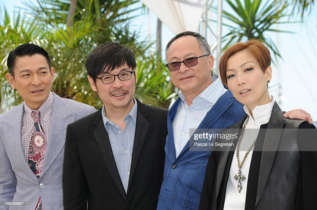 Actor Andy Lau, actor Wai Ka-Fai, director Johnnie To and actress Sammi Cheng attends the photocall for 'Blind Detective' during The 66th Annual Cannes Film Festival at Palais des Festivals on May 20, 2013 in Cannes, France.