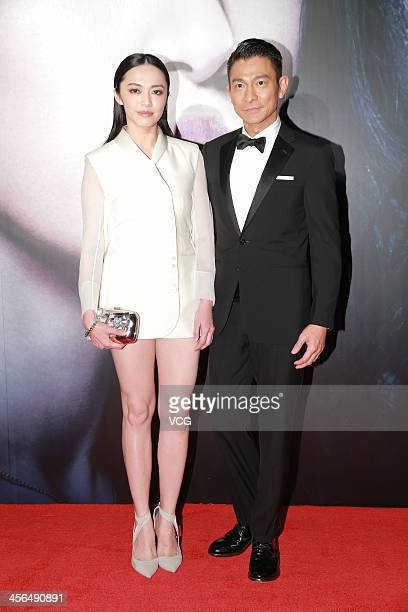 Actor Andy Lau and actress Yao Chen attend 'Firestorm' premiere at the Venetian Macao during the 56th AsiaPacific Film Festival on December 13 2013...