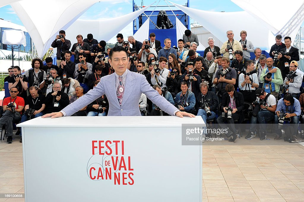 Actor Andy Lau attends the photocall for 'Blind Detective' during The 66th Annual Cannes Film Festival at Palais des Festivals on May 20, 2013 in Cannes, France.