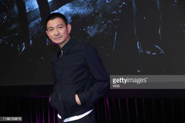 Actor Andy Lau Takwah attends a press conference of film 'The White Storm 2 Drug Lords' on March 18 2019 in Hong Kong China