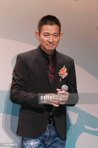 Actor Andy Lau Takwah attends the 25th Hong Kong Film Critics Society Awards Ceremony on March 7 2019 in Hong Kong China