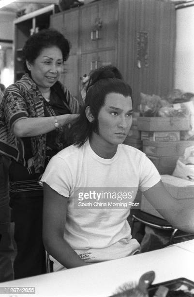 Actor Andy Lau Takwah is in the makeup room of Television Broadcasts Ltd preparing to perform in 'Return of the Condor Heroes' a television drama...