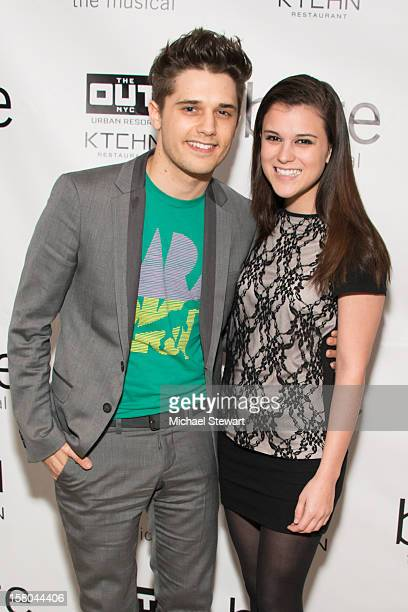 Actor Andy Mientus and Alexandra Socha attend BARE The Musical Opening Night After Party at Out Hotel on December 9 2012 in New York City