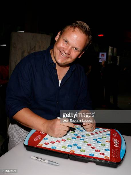 Actor Andy Richter Scrabble Under The Stars to Benefit St Jude Children Hospital on June 12 2008 at The Goldstein Estate in Beverly Hills California