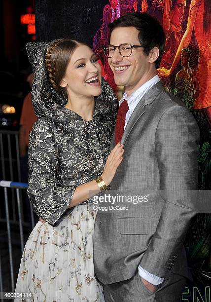 """Actor Andy Samberg and Joanna Newsom arrive at the premiere of Warner Bros. Pictures' """"Inherent Vice"""" at TCL Chinese Theatre on December 10, 2014 in..."""