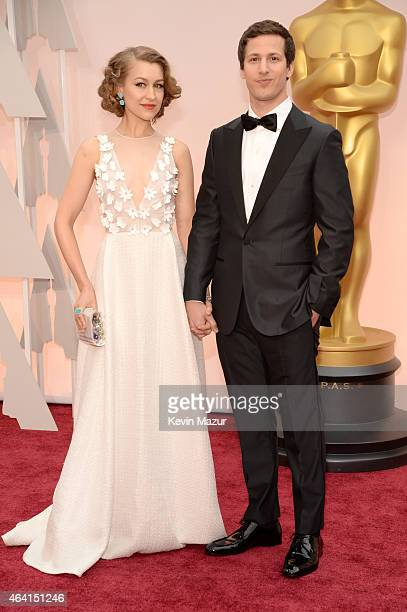 Actor Andy Samberg and Joanna Newsom attends the 87th Annual Academy Awards at Hollywood Highland Center on February 22 2015 in Hollywood California
