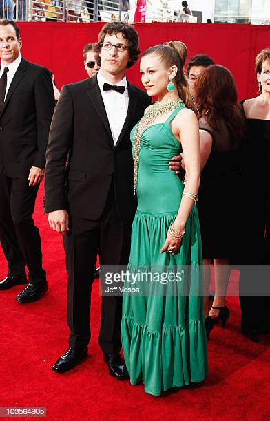Actor Andy Samberg and singer Joanna Newsom arrives at the 61st Primetime Emmy Awards held at the Nokia Theatre on September 20 2009 in Los Angeles...