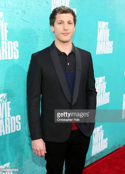 Actor Andy Samberg arrives at the 2012 MTV Movie Awards held at Gibson Amphitheatre on June 3 2012 in Universal City California