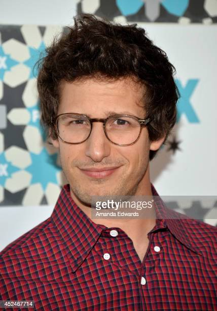 Actor Andy Samberg arrives at the 2014 Television Critics Association Summer Press Tour FOX AllStar Party at Soho House on July 20 2014 in West...