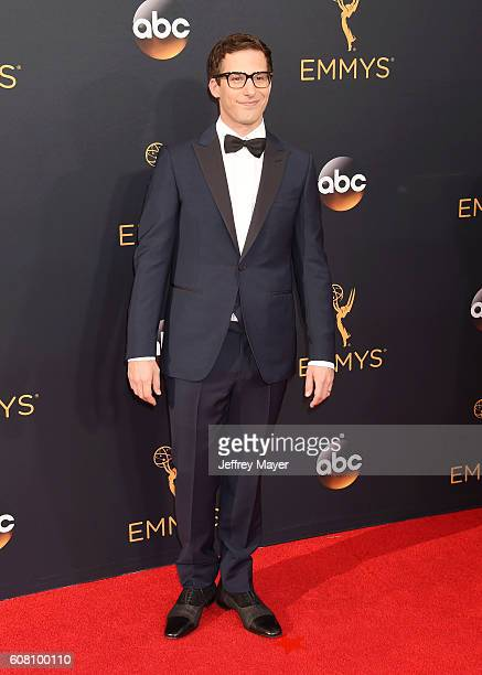 Actor Andy Samberg arrives at the 68th Annual Primetime Emmy Awards at Microsoft Theater on September 18 2016 in Los Angeles California