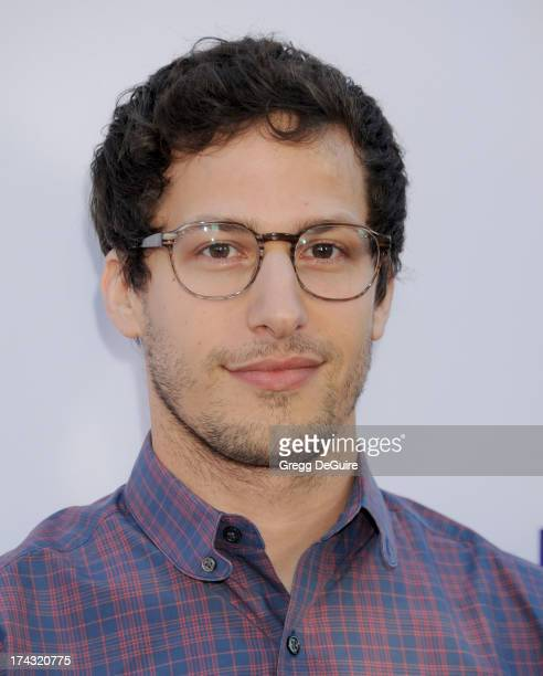 Actor Andy Samberg arrives at the Los Angeles premiere of 'The To Do List' at Regency Bruin Theatre on July 23 2013 in Los Angeles California