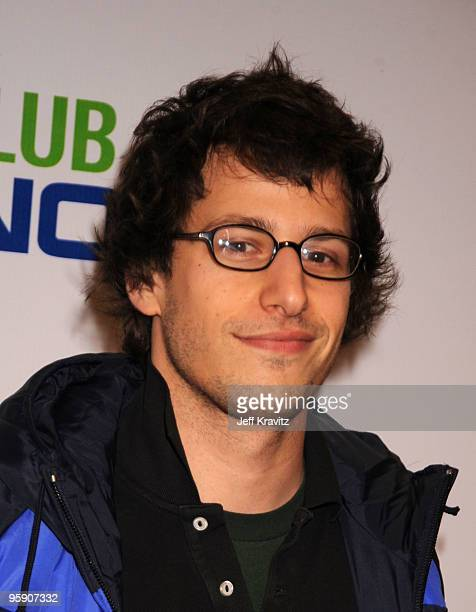 Actor Andy Samberg arrives at The Peewee Herman Show Los Angeles Opening Night at Club Nokia on January 20 2010 in Los Angeles California