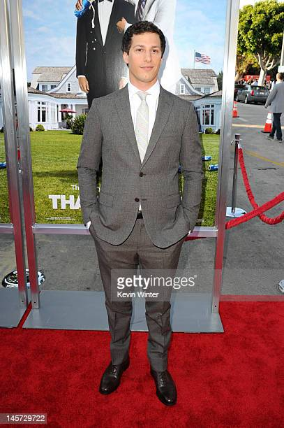 Actor Andy Samberg arrives at the premiere of Columbia Pictures' That's My Boy at Regency Village Theatre on June 4 2012 in Westwood California
