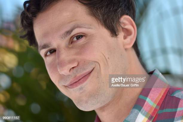 Actor Andy Samberg attends Columbia Pictures and Sony Pictures Animation's World Premiere of 'Hotel Transylvania 3 Summer Vacation' at Regency...