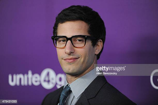 Actor Andy Samberg attends the 1st Annual Unite4humanity Event hosted by Unite4good and Variety on February 27 2014 in Los Angeles California