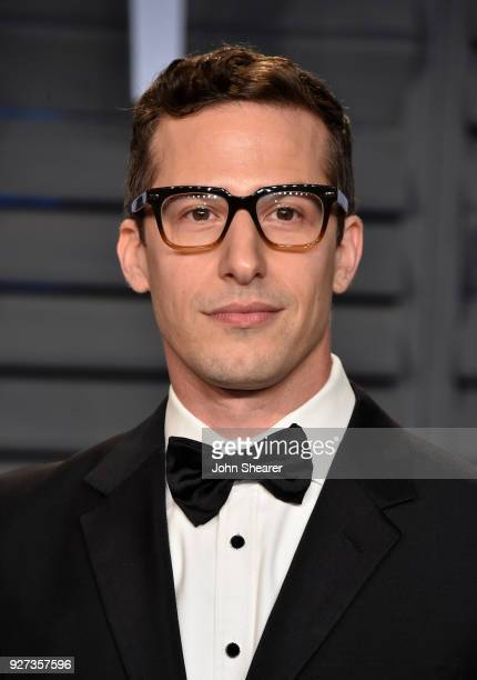 Actor Andy Samberg attends the 2018 Vanity Fair Oscar Party hosted by Radhika Jones at Wallis Annenberg Center for the Performing Arts on March 4...