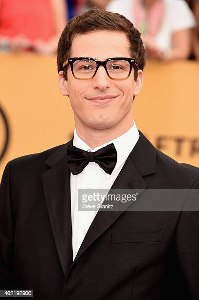 Actor Andy Samberg attends the 21st Annual Screen Actors Guild Awards at The Shrine Auditorium on January 25 2015 in Los Angeles California