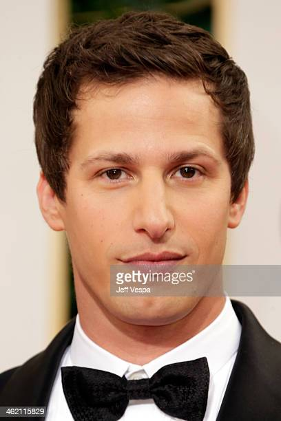 Actor Andy Samberg attends the 71st Annual Golden Globe Awards held at The Beverly Hilton Hotel on January 12, 2014 in Beverly Hills, California.