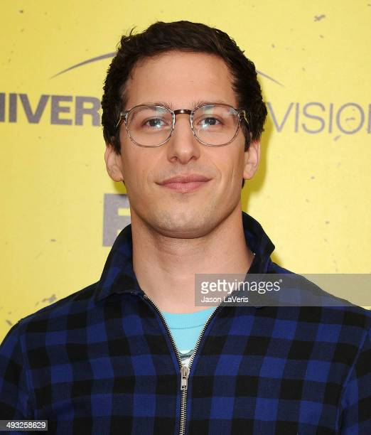 Actor Andy Samberg attends the 'Brooklyn NineNine' steakout block party and special screening event at Universal Studios Backlot on May 22 2014 in...