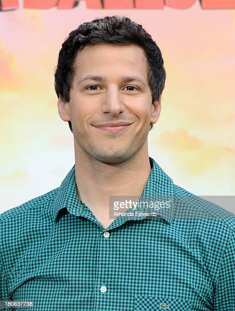 Actor Andy Samberg attends the Cloudy With A Chance Of Meatballs 2 Los Angeles Photo Call at the Four Seasons Hotel Los Angeles at Beverly Hills on...