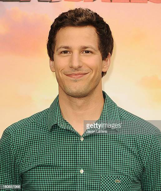 Actor Andy Samberg attends the Cloudy With A Chance Of Meatballs 2 Photo Call at Four Seasons Hotel Los Angeles at Beverly Hills on September 15 2013...