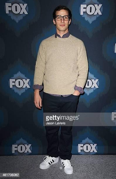 Actor Andy Samberg attends the FOX winter TCA AllStar party at Langham Hotel on January 17 2015 in Pasadena California