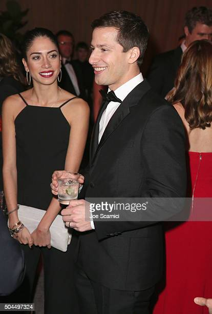Actor Andy Samberg attends The Weinstein Company and Netflix Golden Globe Party presented with DeLeon Tequila Laura Mercier Lindt Chocolate Marie...