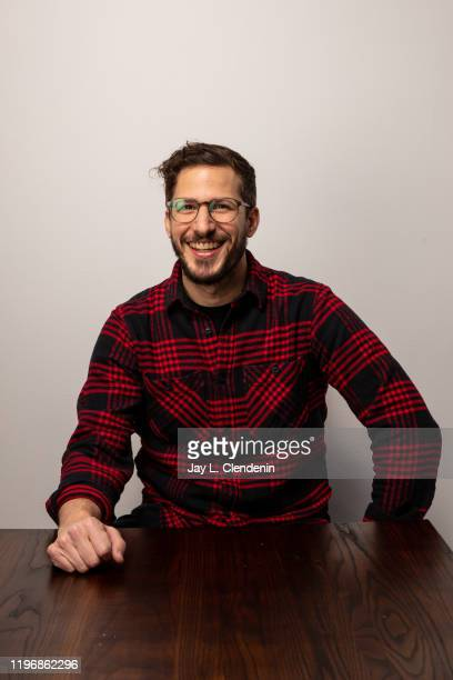 Actor Andy Samberg from 'Palm Springs' is photographed in the L.A. Times Studio at the Sundance Film Festival on January 25, 2020 in Park City, Utah....