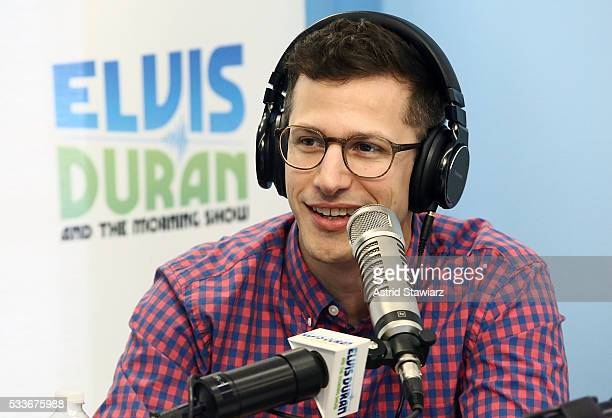 """Actor Andy Samberg visits """"The Elvis Duran Z100 Morning Show"""" at Z100 Studio on May 23, 2016 in New York City."""