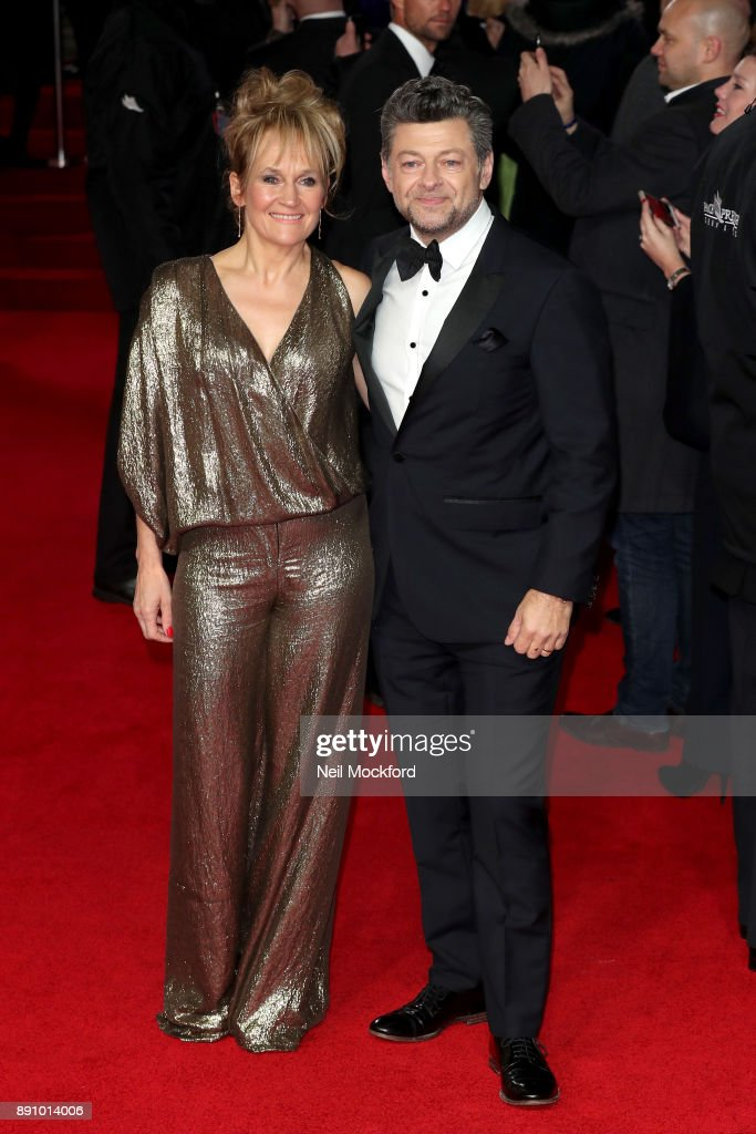 Actor Andy Serkis (R) and his wife Lorraine Ashbourne attend the European Premiere of 'Star Wars: The Last Jedi' at Royal Albert Hall on December 12, 2017 in London, England.