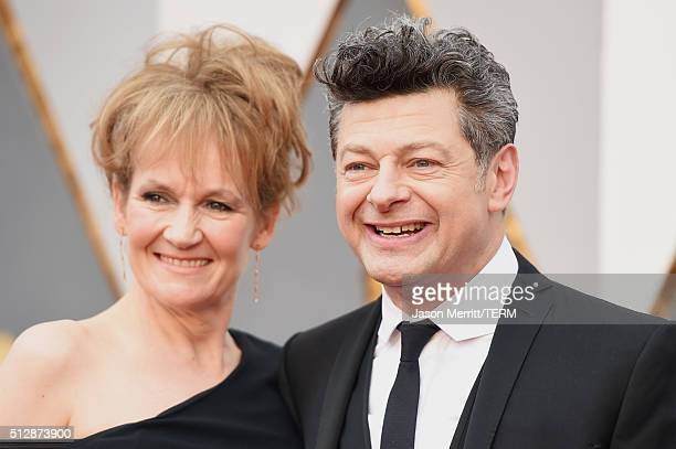 Actor Andy Serkis and Lorraine Ashbourne attend the 88th Annual Academy Awards at Hollywood Highland Center on February 28 2016 in Hollywood...