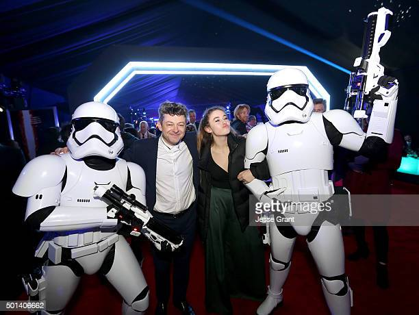 """Actor Andy Serkis and Ruby Serkis attend the after party for the World Premiere of """"Star Wars The Force Awakens"""" on Hollywood Blvd on December 14..."""