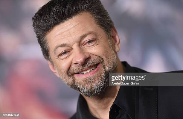 Actor Andy Serkis arrives at the Los Angeles premiere of 'The Hobbit The Battle Of The Five Armies' at Dolby Theatre on December 9 2014 in Hollywood...