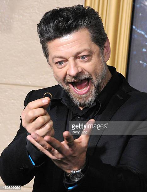Actor Andy Serkis arrives at the Los Angeles Premiere 'The Hobbit: The Battle of the Five Armies' at Dolby Theatre on December 9, 2014 in Hollywood,...