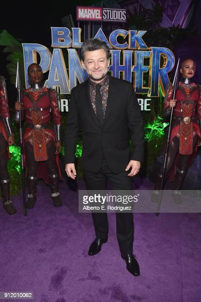 Actor Andy Serkis at the Los Angeles World Premiere of Marvel Studios' BLACK PANTHER at Dolby Theatre on January 29 2018 in Hollywood California