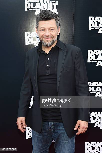 Actor Andy Serkis attends the Dawn Of The Planets Of The Apes premiere at Williamsburg Cinemas on July 8 2014 in New York City