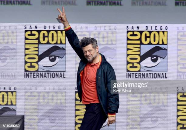 Actor Andy Serkis attends the Marvel Studios 'Black Panther' Presentation during ComicCon International 2017 at San Diego Convention Center on July...