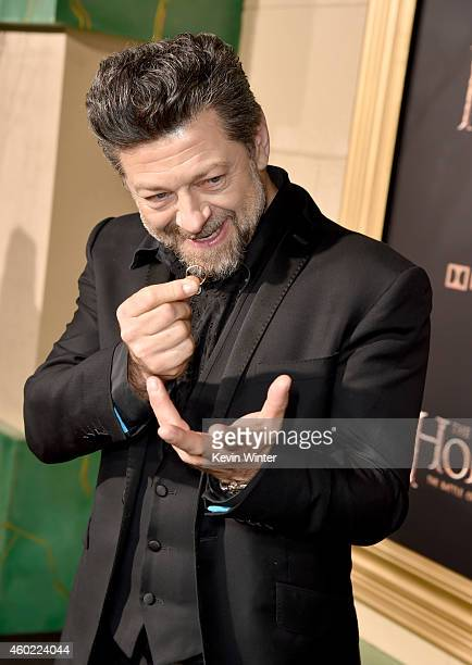 Actor Andy Serkis attends the premiere of New Line Cinema MGM Pictures and Warner Bros Pictures' The Hobbit The Battle of the Five Armies at Dolby...