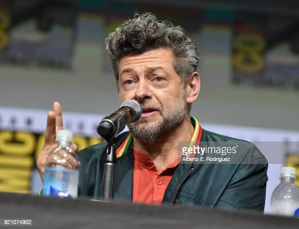 Actor Andy Serkis from Marvel Studios' 'Black Panther' at the San Diego ComicCon International 2017 Marvel Studios Panel in Hall H on July 22 2017 in...