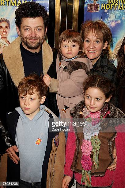 Actor Andy Serkis his wife Lorraine and their children Sonny Louis and Ruby arrives at the UK premiere of Mr Magorium's Wonder Emporium at the Empire...