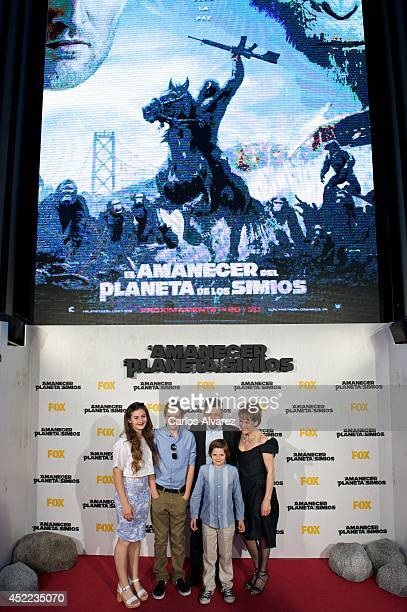 Actor Andy Serkis his wife Lorraine Ashbourne and sons Ruby Sekis Sonny Serkis and Louis Serkis attend the Dawn of the Planet of the Apes premiere at...
