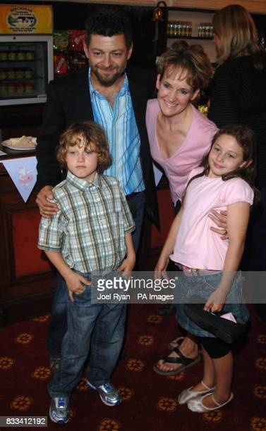 Actor Andy Serkis with his wife Lorraine Ashbourne son Sonny and daughter Ruby attend Angelina Ballerina's Star Performance at the start of the 12...